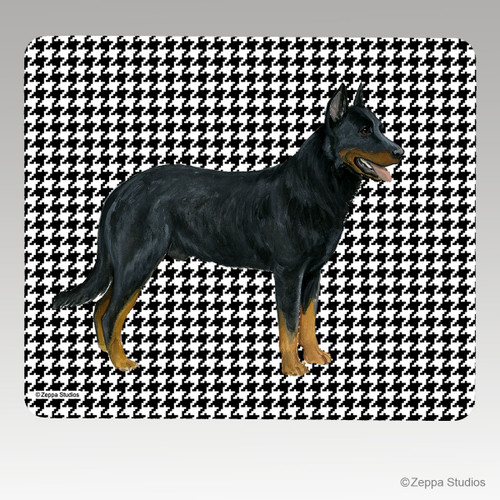 Beauceron Collie Houndstooth Mouse Pad
