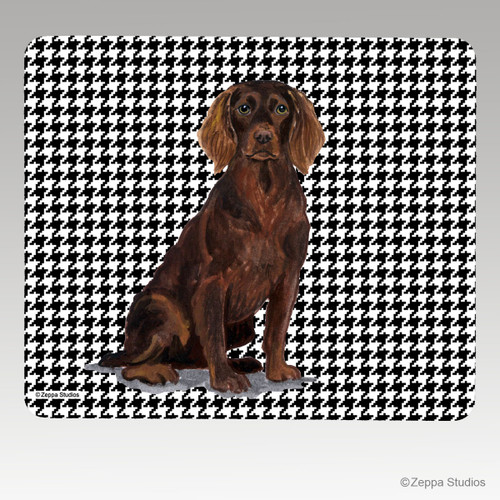 Boykin Spaniel Houndstooth Mouse Pad