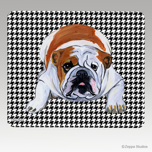 Bulldog Houndstooth Mouse Pad