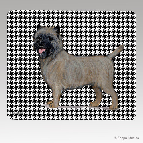 Cairn Terrier Houndstooth Mouse Pad
