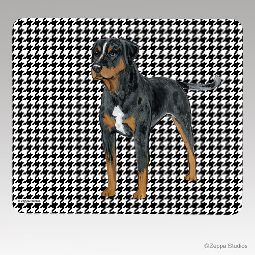 Catahoula Leopard Dog Houndstooth Mouse Pad