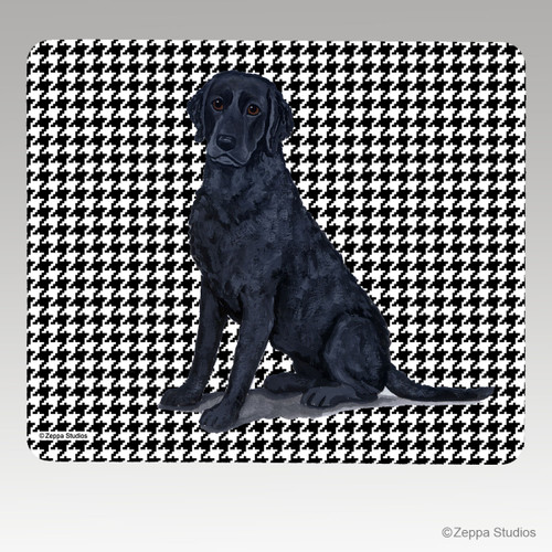 Curly Coated Retriever Houndstooth Mouse Pad