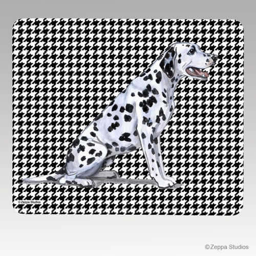 Dalmatian Houndstooth Mouse Pad