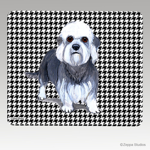 Dandi Dinmont Terrier Houndstooth Mouse Pad