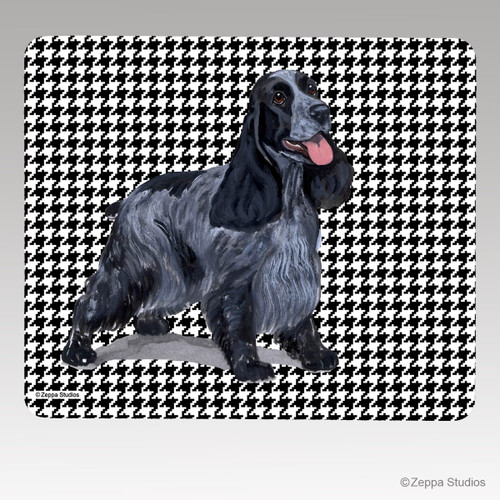 English Cocker Spaniel Houndstooth Mouse Pad