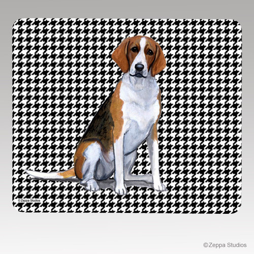 Foxhound Houndstooth Mouse Pad