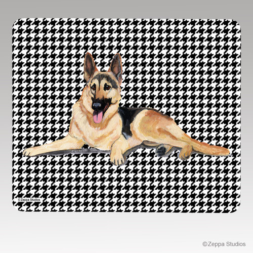 German Shepherd Houndstooth Mouse Pad