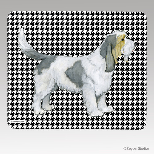 Grand Basset Griffon Vendeen Houndstooth Mouse Pad