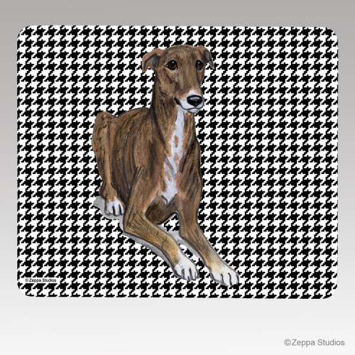 Greyhound Houndstooth Mouse Pad