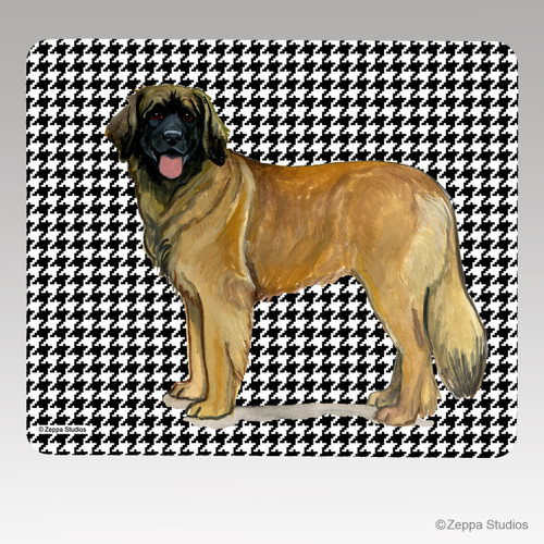 Leonberger Houndstooth Mouse Pad