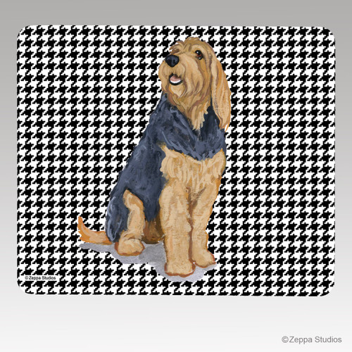 Otterhound Houndstooth Mouse Pad
