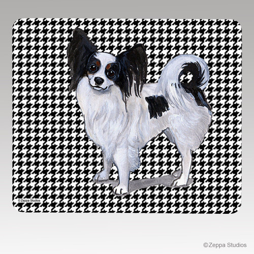 Papillon Houndstooth Mouse Pad