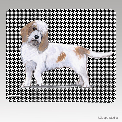 Petite Basset Griffon Vendeen Houndstooth Mouse Pad
