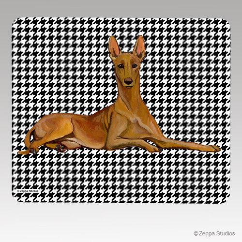 Pharaoh Hound on Houndstooth Mouse Pad