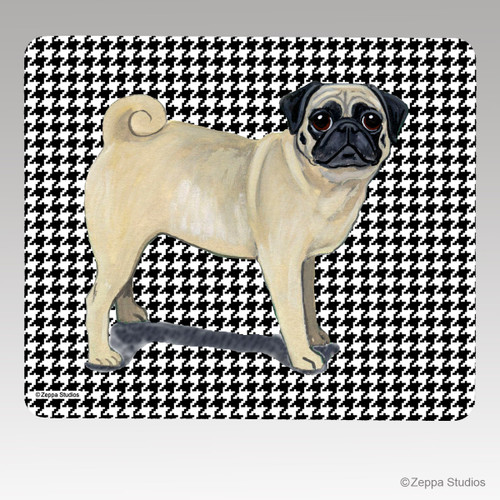 Pug HoundstoothMouse Pad