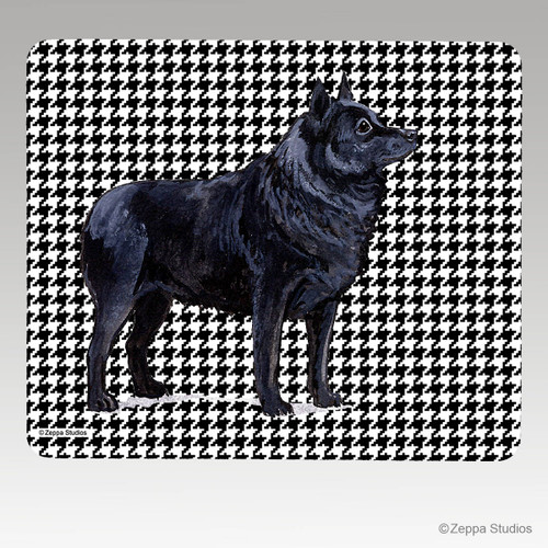 Schipperke Houndstooth Mouse Pad - Rectangle