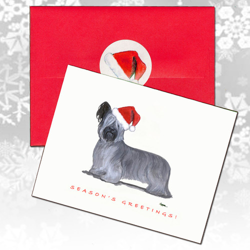 Skye Terrier Christmas Cards