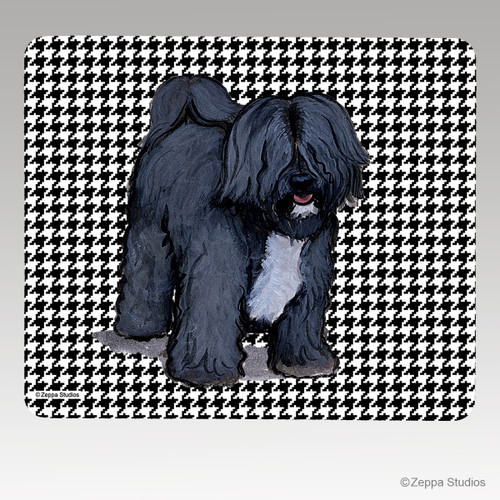 Tibetan Terrier on Houndstooth Mouse Pad