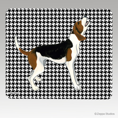 Treeing Walker Coonhound on Houndstooth Mouse Pad