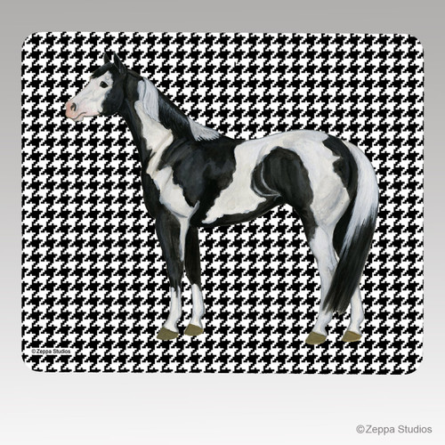 Paint Horse Houndstooth Mouse Pads