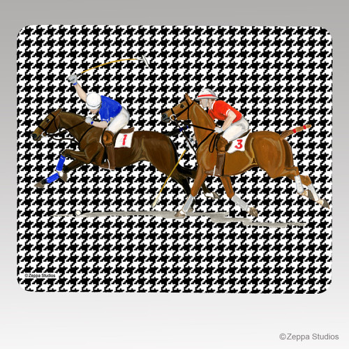 Polo Houndstooth Mouse Pad