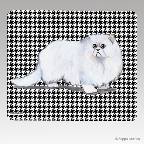 Persian Cat Houndstooth Mouse Pads