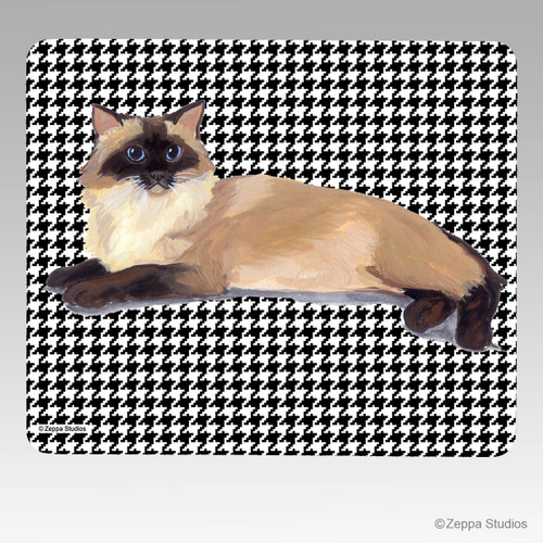 Rag Doll Cat Houndstooth Mouse Pad