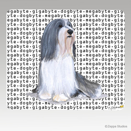 Bearded Collie Megabyte Mouse Pad