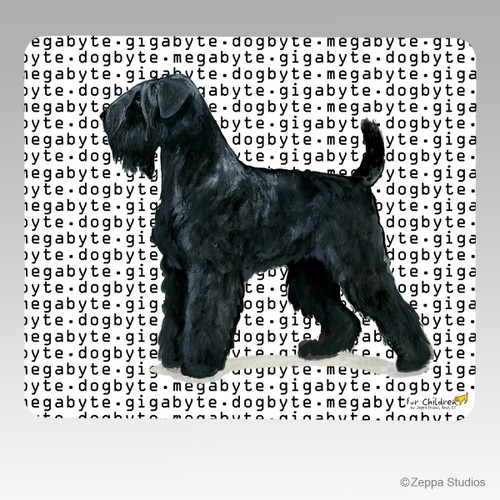 Black Russian Terrier Megabyte Mouse Pad