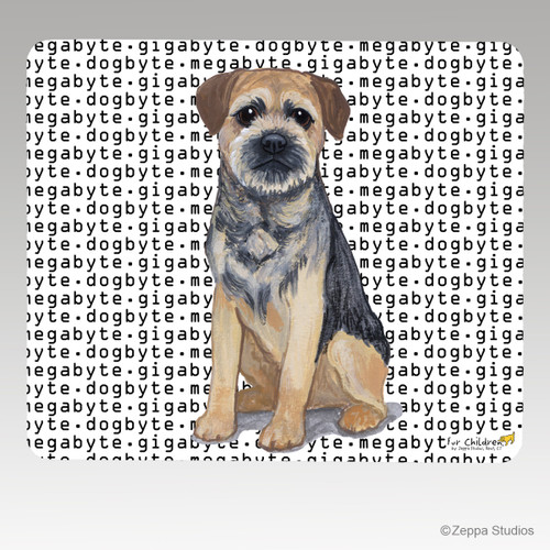 Border Terrier Megabyte Mouse Pad