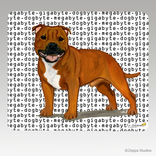 English Staffordshire Terrier Megabyte Mouse Pad