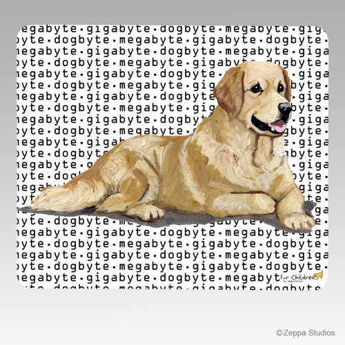 Golden Retriever Megabyte Mouse Pad