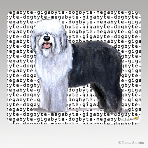 English Sheepdog Megabyte Mouse Pad