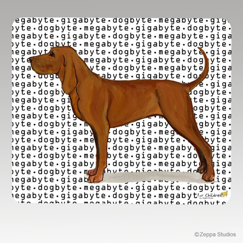 Redbone Coonhound Megabyte Mouse Pad - Rectangle