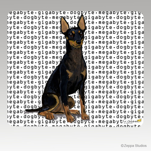 Toy Manchester Terrier Megabyte Mouse Pad - Rectangle