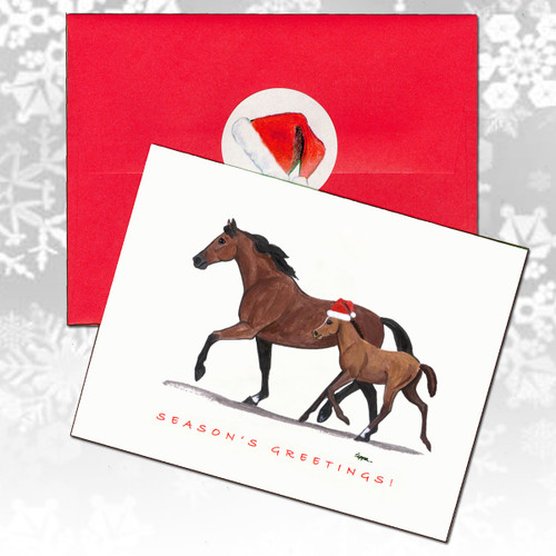 Mare & Foal Christmas Cards