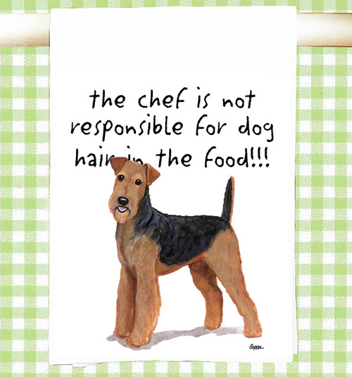 Airedale Flour Sack Kitchen Towel