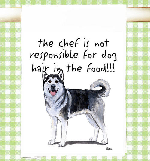Alaskan Malamute Flour Sack Kitchen Towel