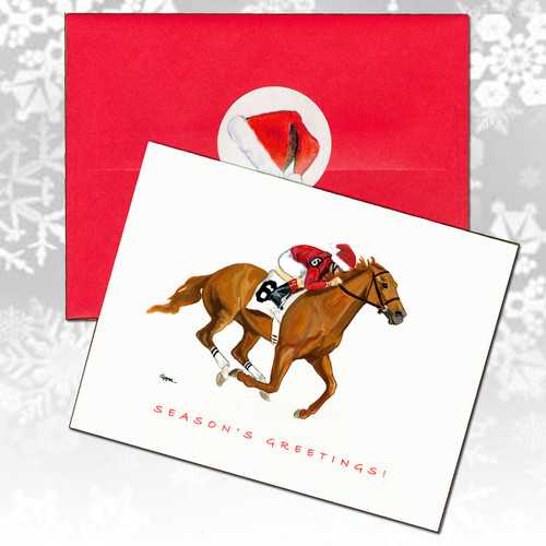 Race Horse Christmas Cards
