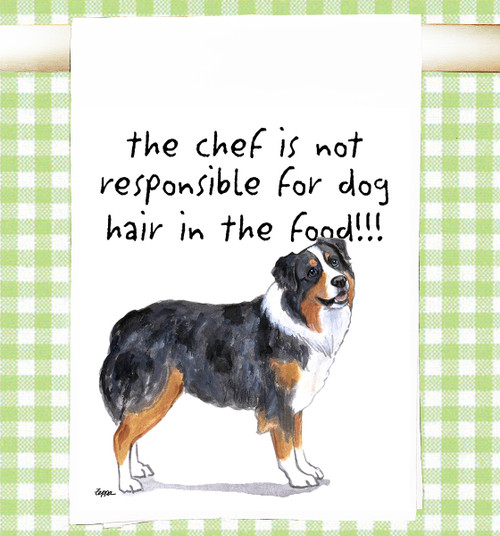 Australian Shepherd Flour Sack Kitchen Towel
