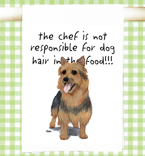 Australian Terrier Flour Sack Kitchen Towel