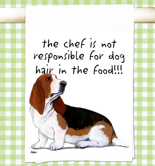 Basset Hound Flour Sack Kitchen Towel