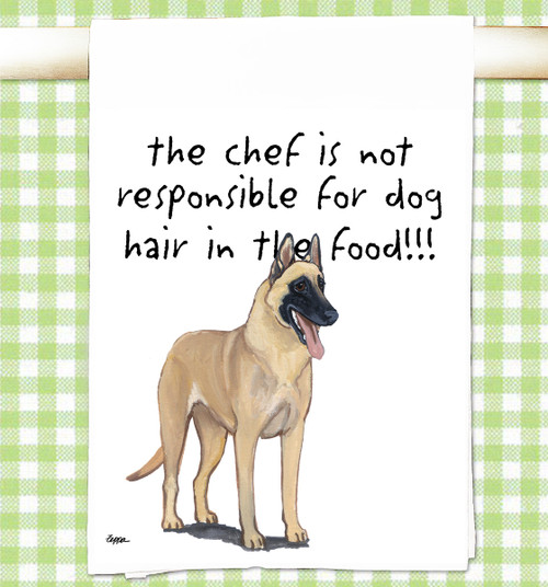 Belgian Malinois Flour Sack Kitchen Towel
