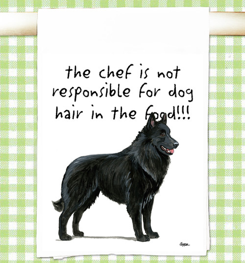 Belgian Shepherd Flour Sack Kitchen Towel
