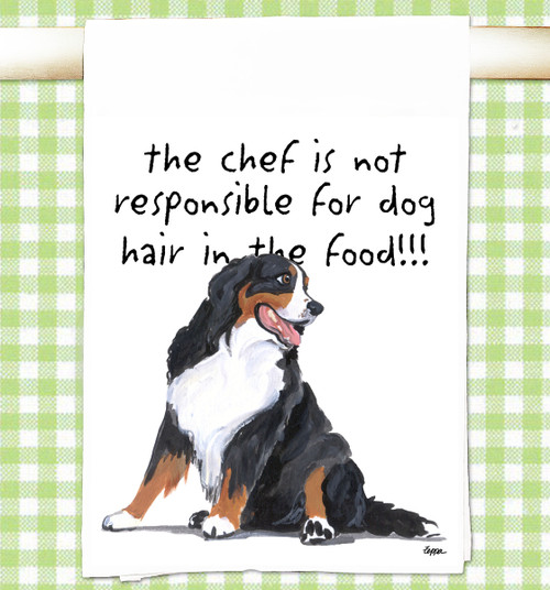 Bernese Mountain Dog Flour Sack Kitchen Towel