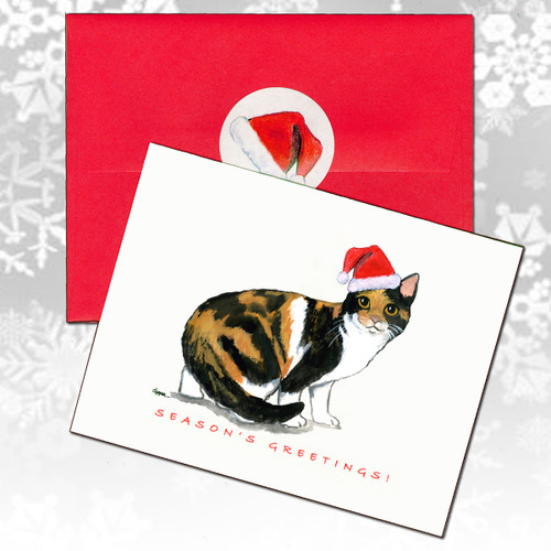 Calico Cat Christmas Cards