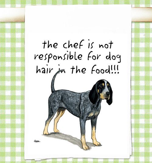 Bluetick Coonhound Flour Sack Kitchen Towel