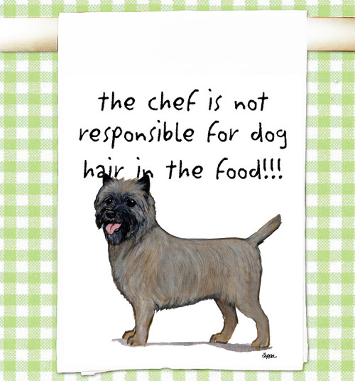Cairn Terrier Flour Sack Kitchen Towel