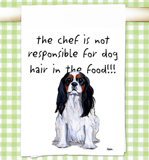 Cavalier King Charles Spaniel Flour Sack Kitchen Towel