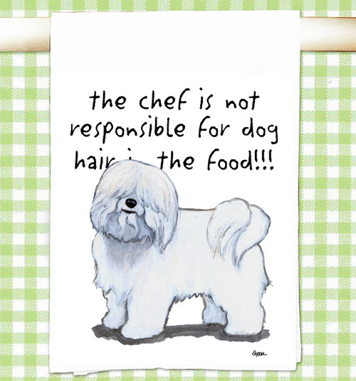 Coton du Tulear Flour Sack Kitchen Towel